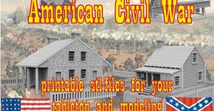 American Civil War printable terrain tabletop and modeling