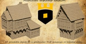 Medieval township 3D STL files - tabletop edition