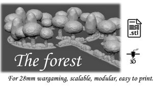 The forest, 3D wargaming scenery