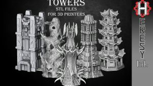 Fantasy Towers in STL format for 3D printing