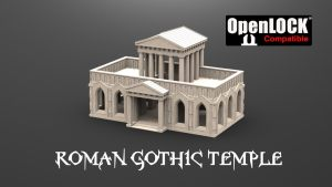 The 3D printable Roman Gothic Temple