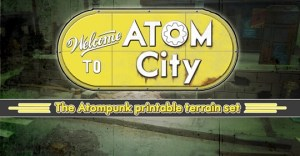 Welcome to Atom City - The Atompunk printable terrain set