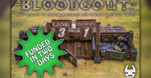 Bloodgout - 3d printable dugout for fantasy football board games.