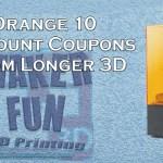 Discount Code for the Longer 3D Orange