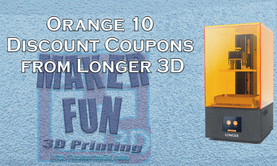 Discount Code for the Longer 3D Orange