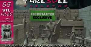 Thre3Dee Tabletop | 3D print-ready RPG components