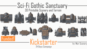 Sci-Fi Gothic Sanctuary- 3D Printable Cathedrals and Bunkers