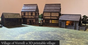 Village of Verrell: a 3D printable STL village