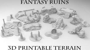 3D Printable Fantasy Ruins