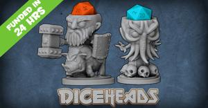 Dice Heads: D20 Dice Holders