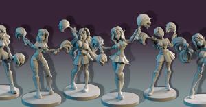 Loec's Half Elf Priestesses ~ Bright Dawn Cheerleaders