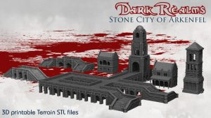 Stone City of Arkenfel 3D printable terrain