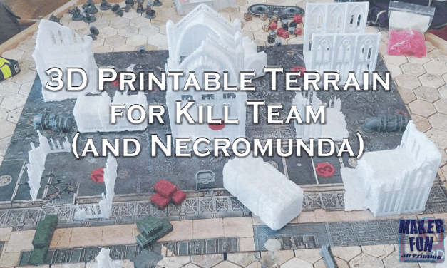 Kill Team Terrain – Fully 3D Printable Wargame Tables and More