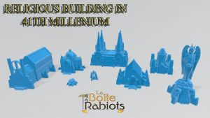 Religious Building in 41th millenium 3D STL files