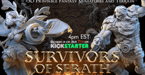 Survivors of Serath – 3D Printable Fantasy Miniatures