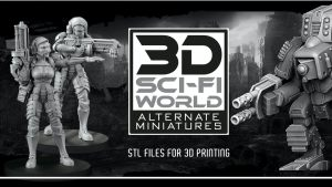 ALTERNATE MINIATURES 3D stl FILES