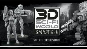 ALTERNATE MINIATURES 3D stl FILES