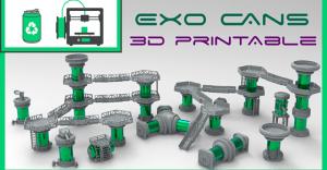 Exo Cans: 3d printable terrain.