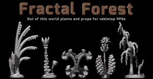 Fractal Forest - 3D printable models