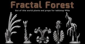 Fractal Forest - 3D printable models