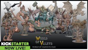 World of Valkyr fantasy STL