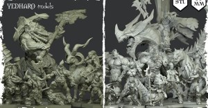 3D Printing Miniatures by Yedharo Models - STL - 30mm - RPG
