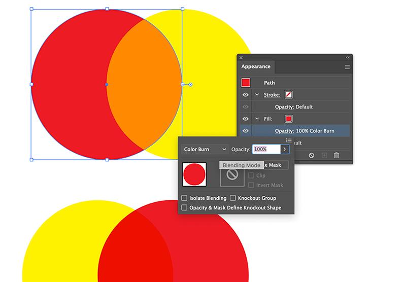 Riso Effect Color Burn Blending Mode Illustrator