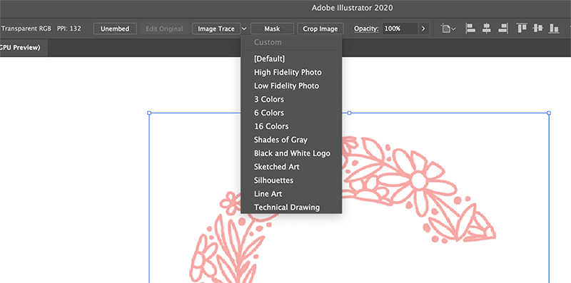 Image Trace Options in Illustrator