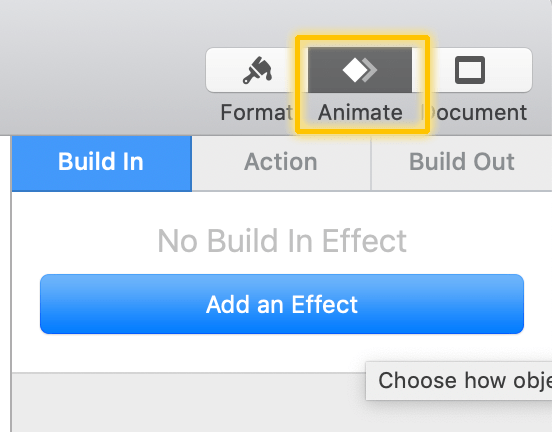 Make a Free Youtube Video Intro in Keynote - Step 3a - Animate Your text with build in effect