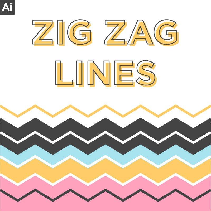 Easy Zig Zag Lines Tutorial Illustrator