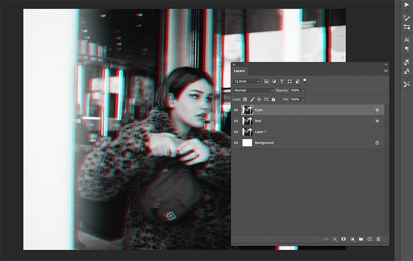 Step 4 RGB Split Photo Effect Photoshop Tutorial