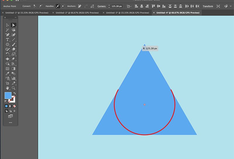 Fast Easy Waterdrop Illustrator Step 2