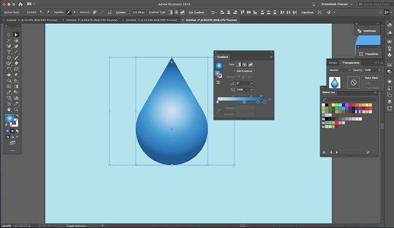 Fast Easy Waterdrop Illustrator Optional Bonus Step 4