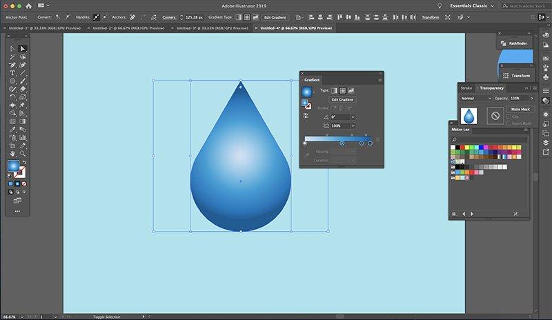Fast Easy Waterdrop Illustrator Optional Bonus Step 4