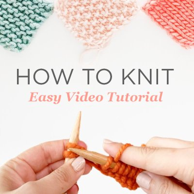 Easy Knitting Tutorial Step-by-Step (Learn with Free Videos)