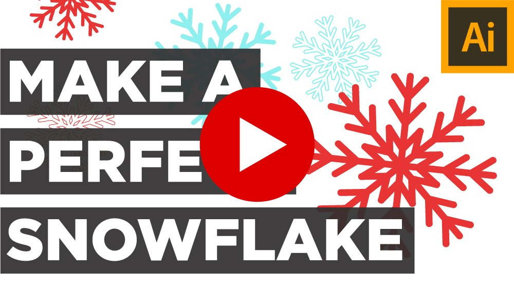 Watch Illustrator Snowflake Tutorial on Youtube