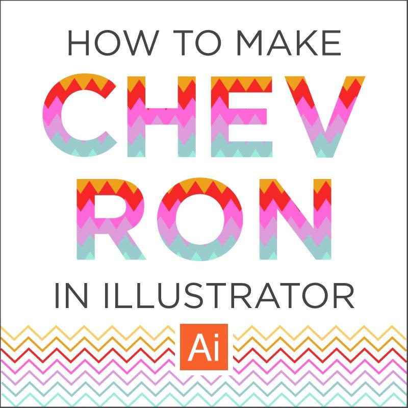 How to Make Chevron Easy Tutorial in Illustrator