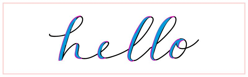how to fake calligraphy step 3