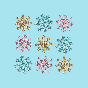 snowflake icons tutorial illustrator