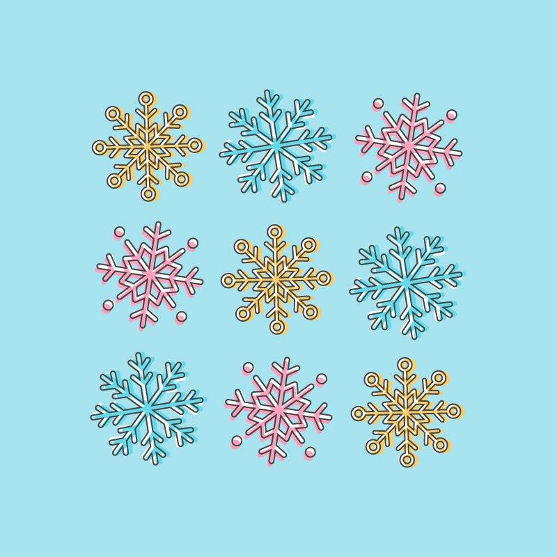 snowflake icon illustrator