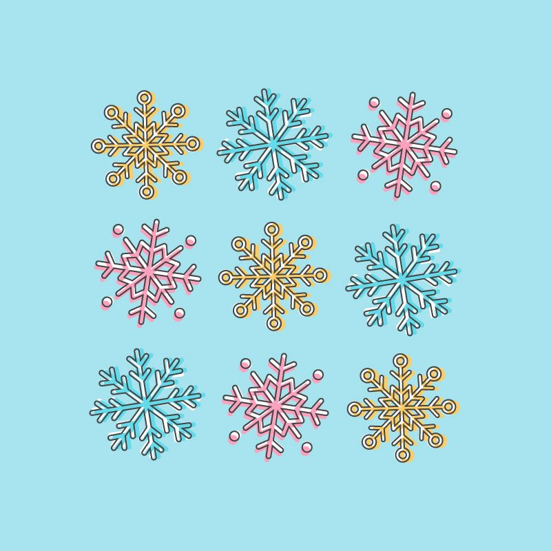 snowflake icon illustrator
