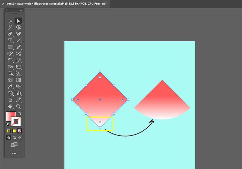 step 2 watermelon vector illustration