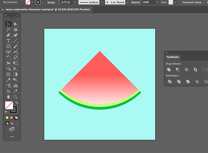 step 7 watermelon vector illustration