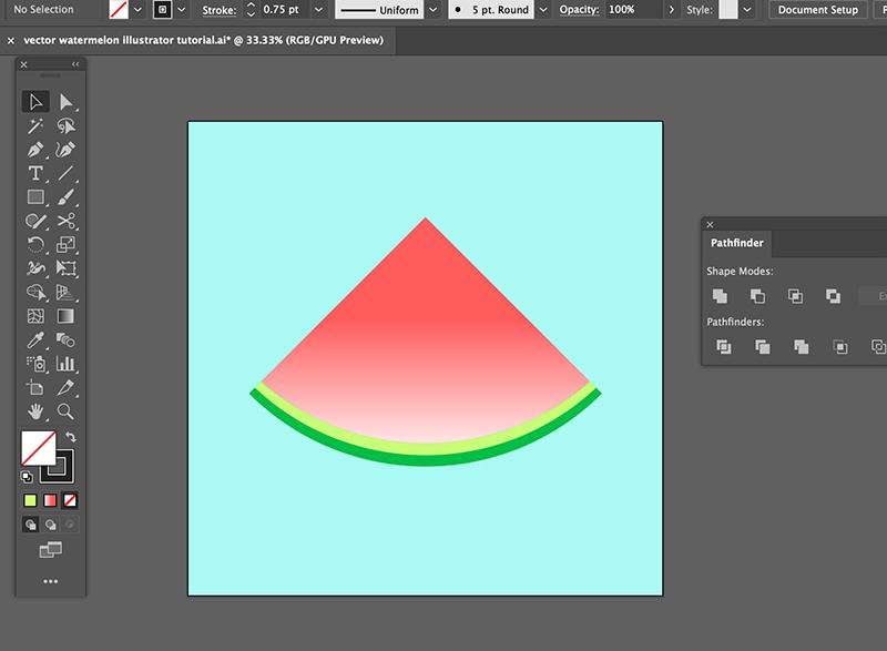 step 7 watermelon vector illustration