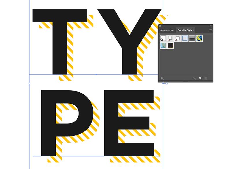 add hatch drop shadow effect to graphic styles menu