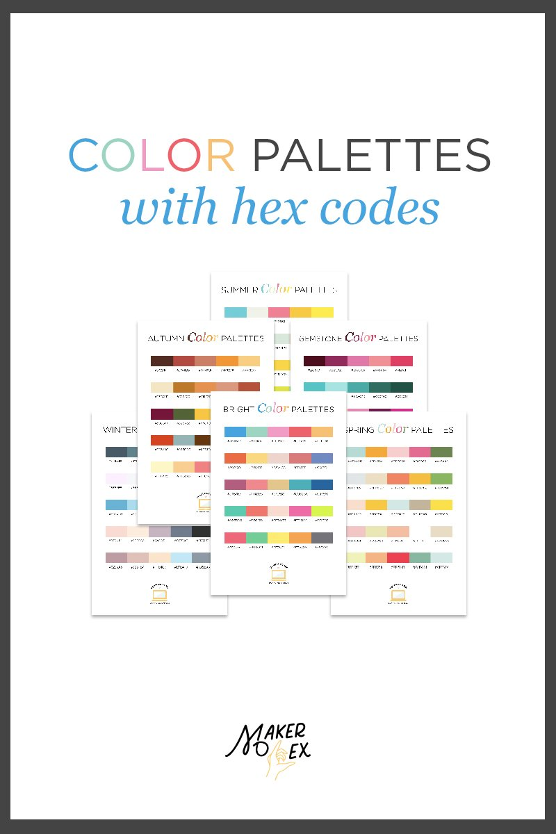 pinterest color palette web graphic blog digital design hex codes