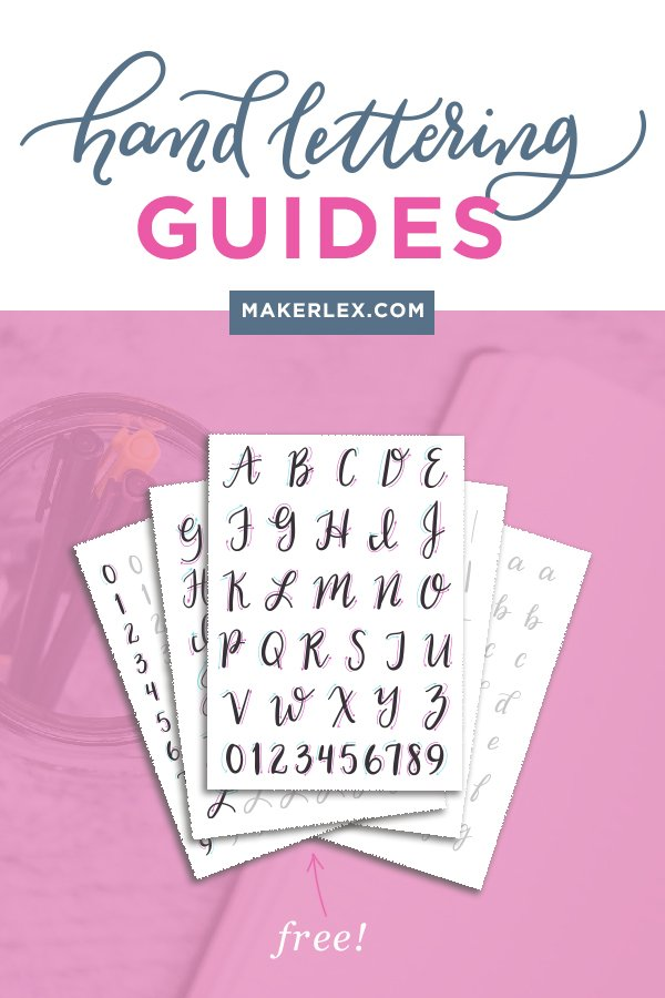 free hand lettering guides modern calligraphy printable practice sheets
