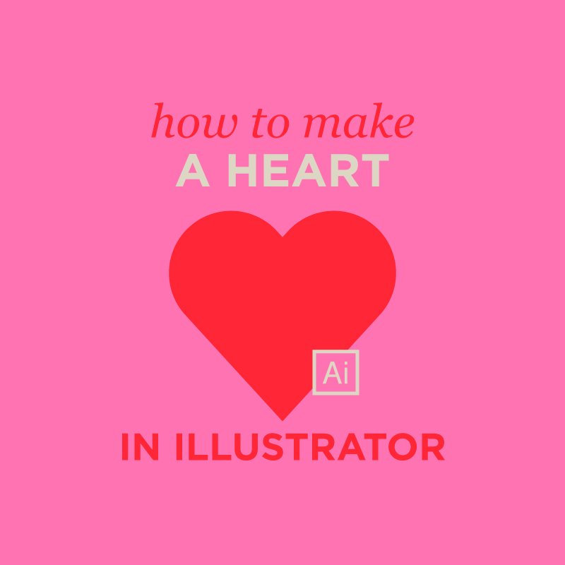 how to make a heart in illustrator
