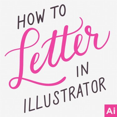 how to hand letter in illustrator