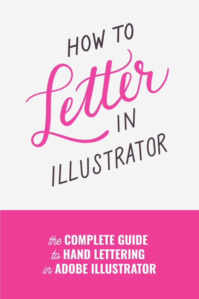 how to hand lettering in illustrator tutorial